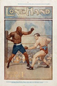 Burns vs Johnson fight, 1908. Image reproduced courtesy of the State Library of NSW